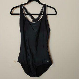 Speedo Modest Training Swim Suit Low Hip Racerback